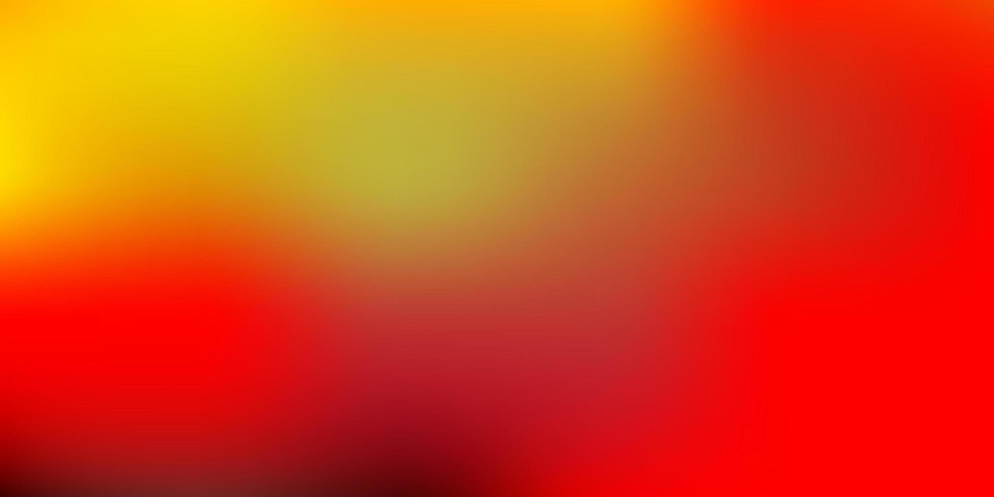 modello di sfocatura sfumata rossa e gialla. vettore