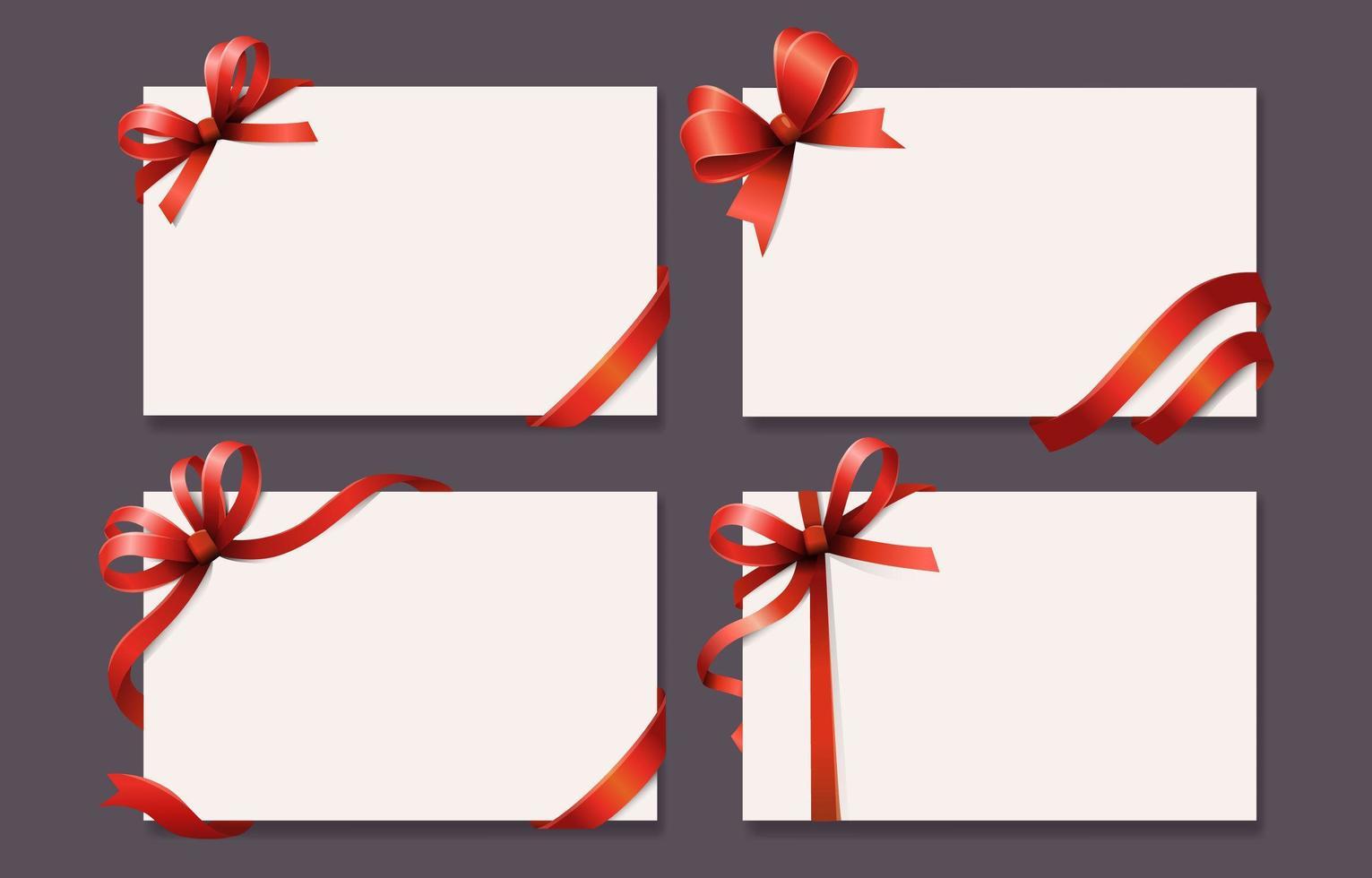 set di carte regalo vettore