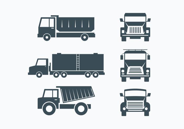 Set di raccolta Camion vettore
