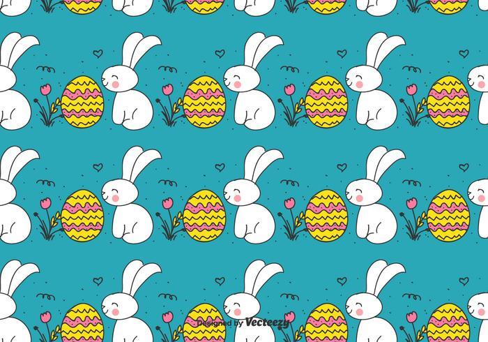 Doodle modello coniglietto di Pasqua e uovo vettore