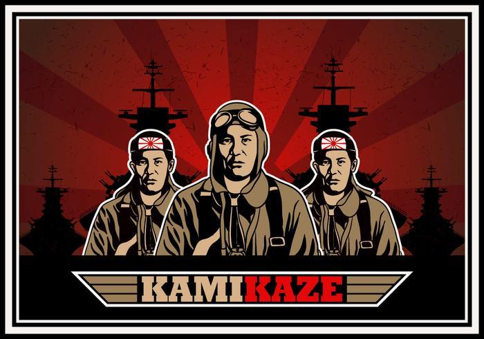 Sfondo di vettore dell'esercito Kamikaze
