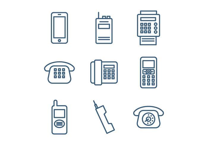 Set di icone del telefono vettore