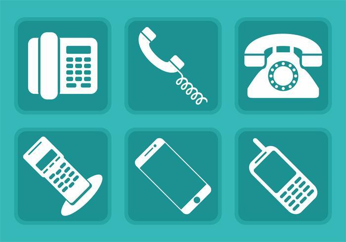 Icone di vettore del telefono