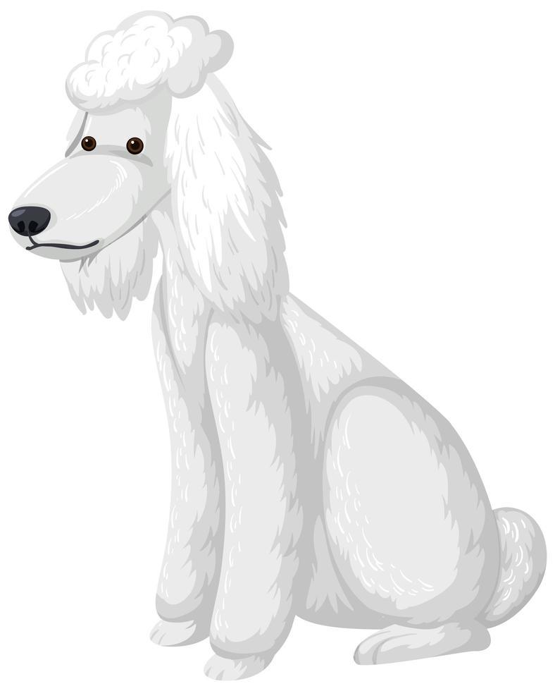 stile cartone animato pozzanghera bianca su sfondo bianco vettore