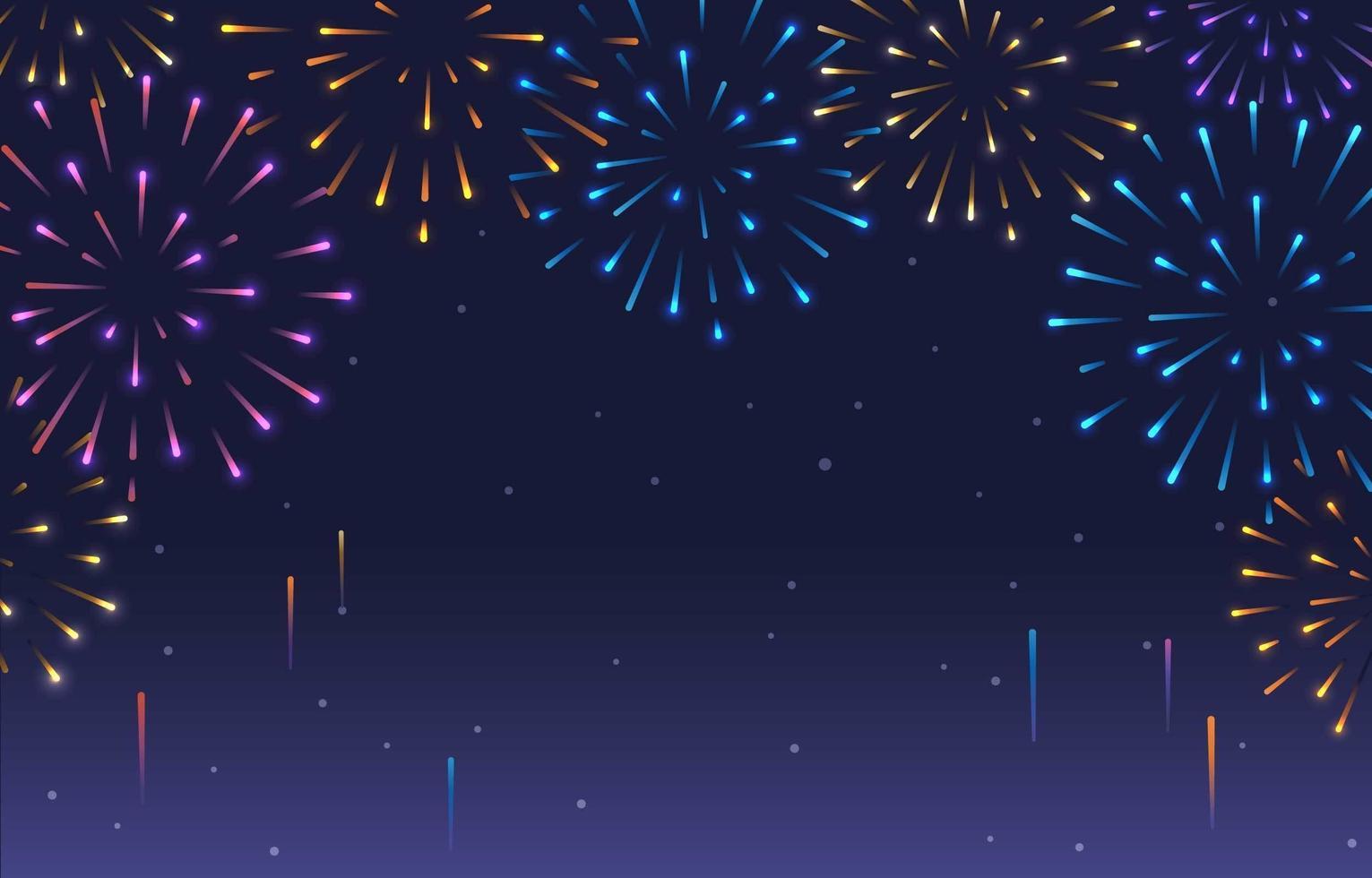 sfondo colorato di fuochi d'artificio vettore
