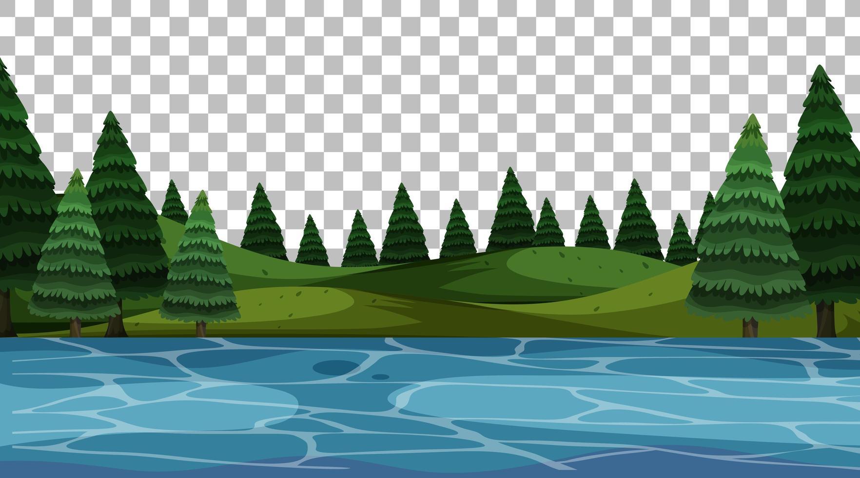 scena del paesaggio del parco naturale vettore