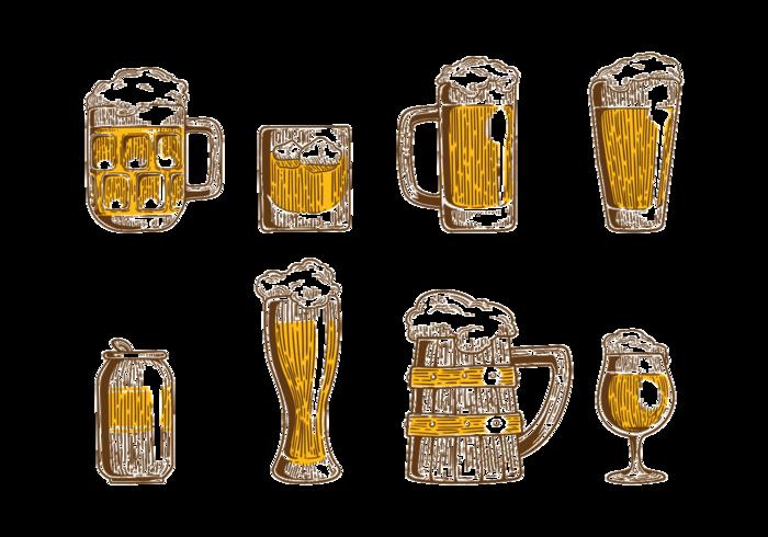 vettore di icone cerveja