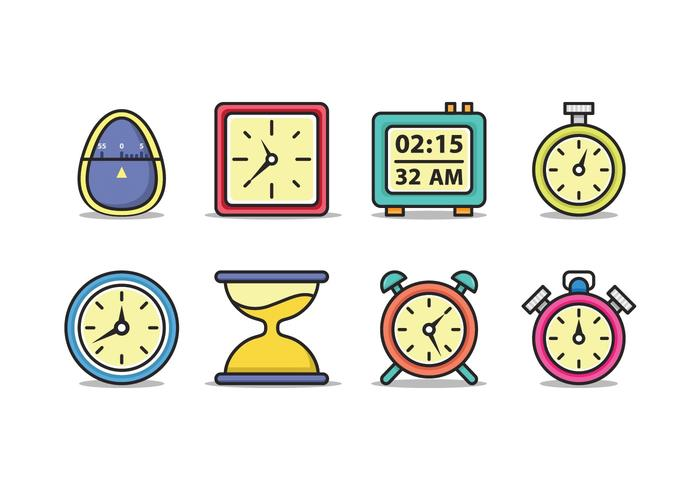 icona del timer vettore