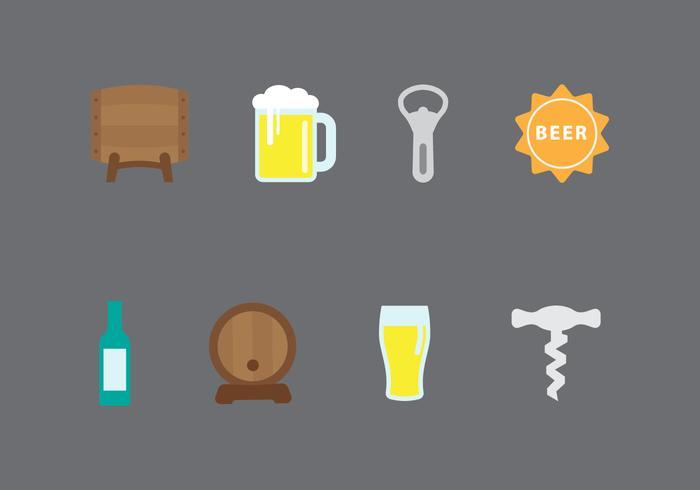 Birra icone vettoriali
