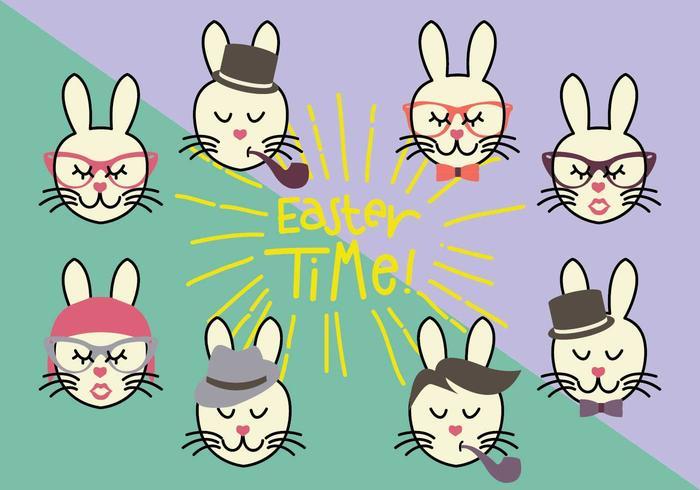Gruppo di vettori coniglietto a vita bassa