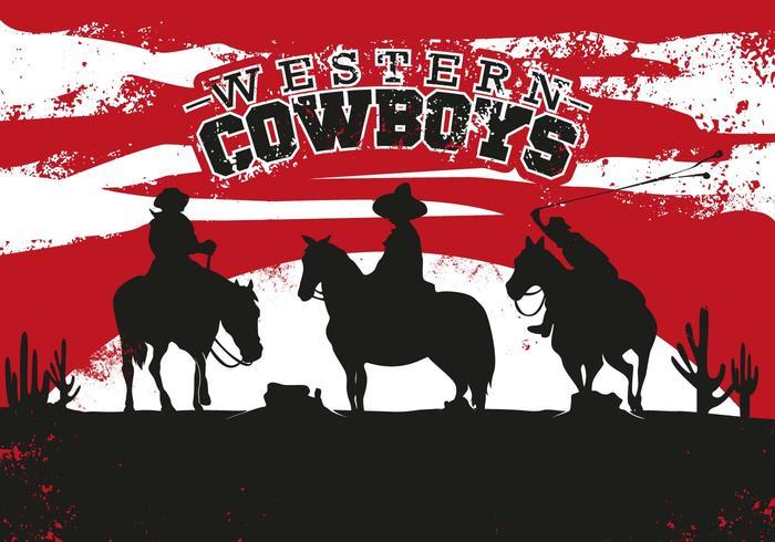 Illustrazione dell'annata occidentale del cowboy di gaucho vettore
