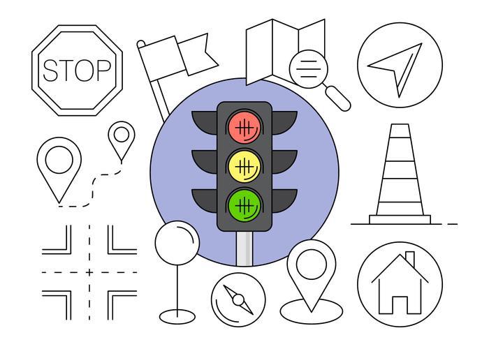 Icone di navigazione gratis in elementi vettoriali