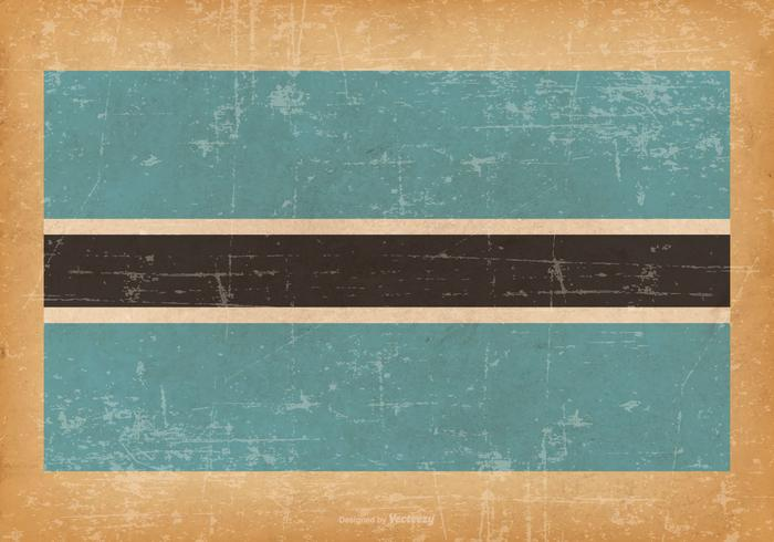 Bandiera del grunge del Botswana vettore