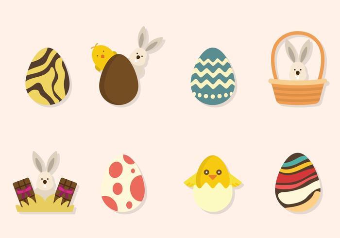 Vettori di Pasqua piatta