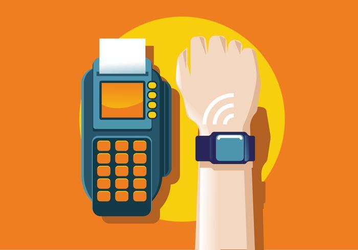 Concetto di smartphone NFC vettore