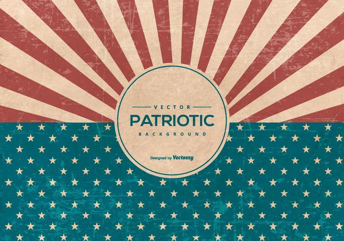 Retro fondo patriottico di stile americano di lerciume vettore