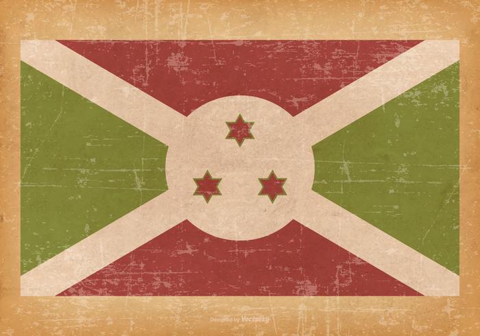 Falg del Burundi su sfondo grunge vettore