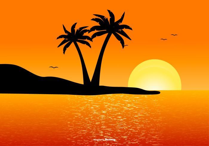 Bella scena paesaggio tropicale vettore