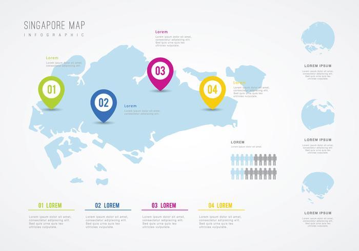 Progettazione Info-grafica dell'illustrazione di Singapore vettore