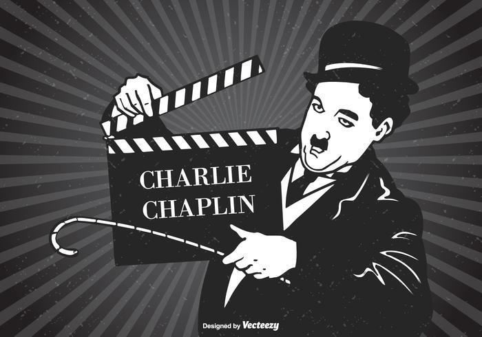 poster retrò di vettore di charlie chaplin