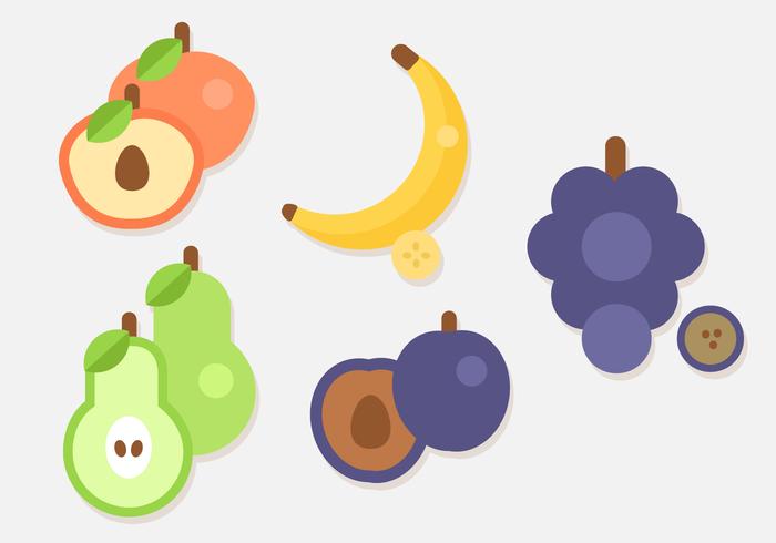 Vettore di frutta piatto gratuito