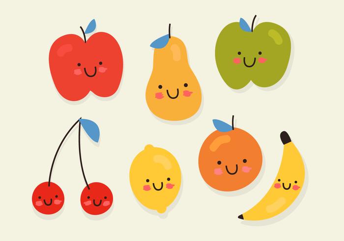 Vettore di frutta sorridente