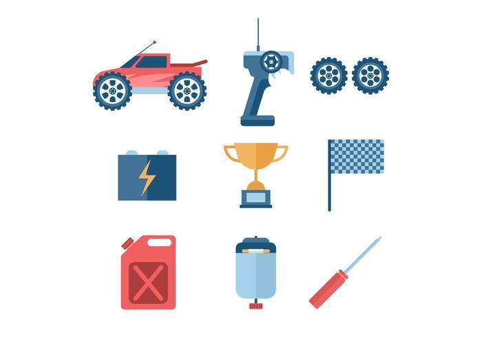 Icona di vettore di controllo remoto dell'automobile