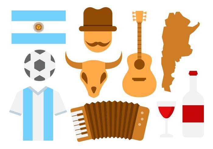 Vettore delle icone dell'Argentina