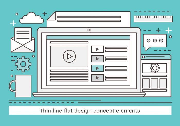 Illustrazione di disegno vettoriale lineare gratuito