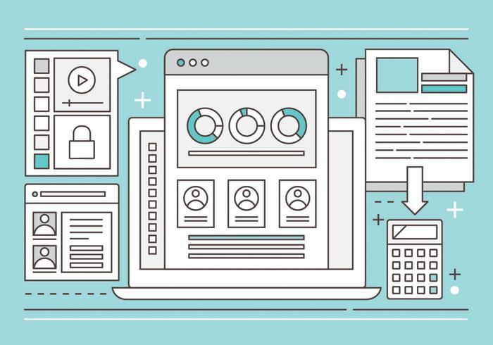 Illustrazione di design piatto vettoriale gratuito
