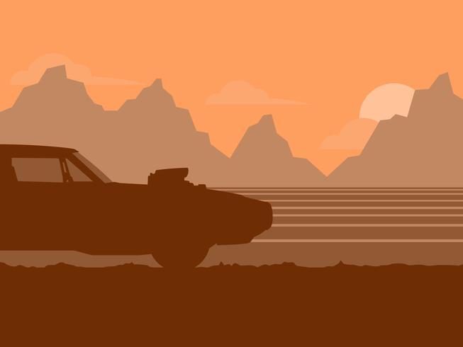 Illustrazione di auto d'epoca vettore