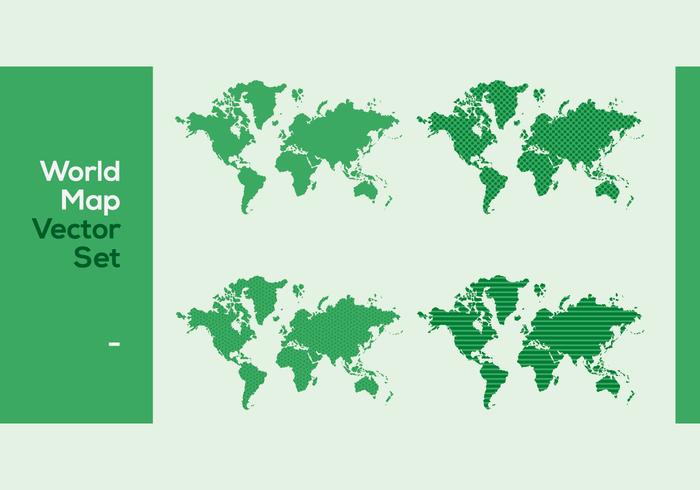 Set di mappa del mondo vettoriale modellato