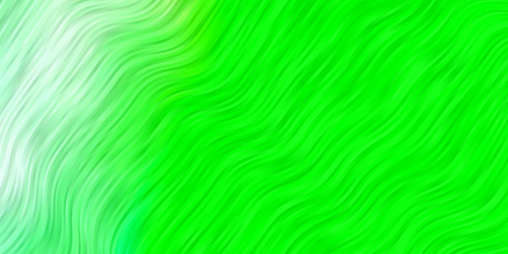 trama verde con curve. vettore