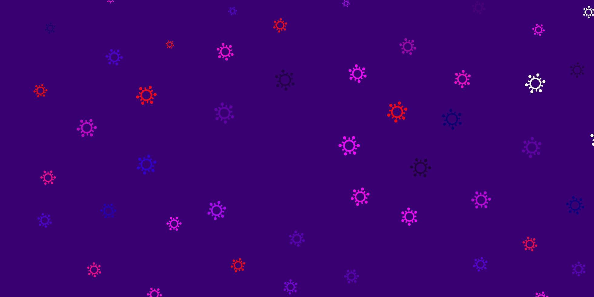 modello viola con segni di influenza. vettore