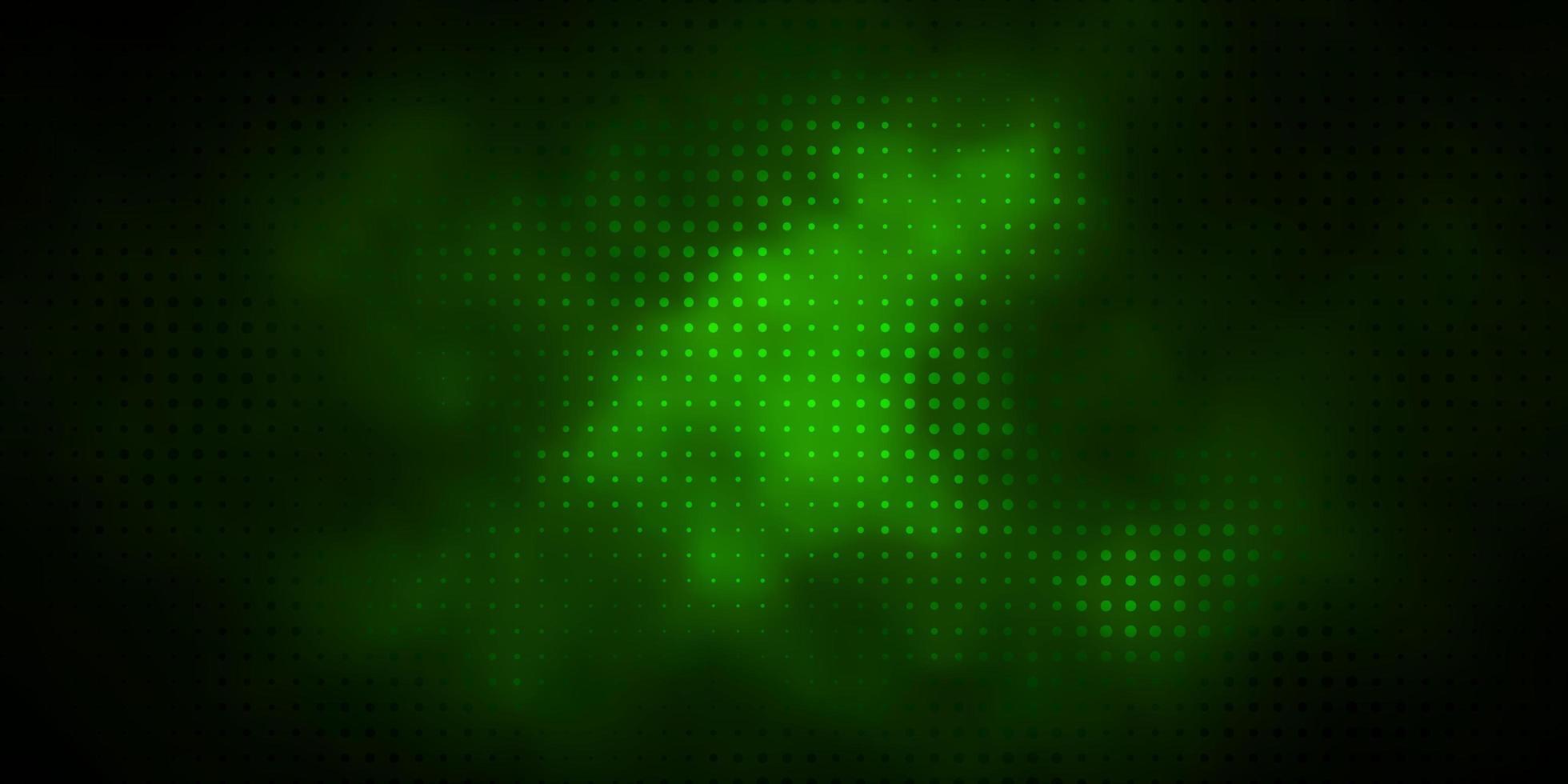 layout verde scuro con forme circolari. vettore