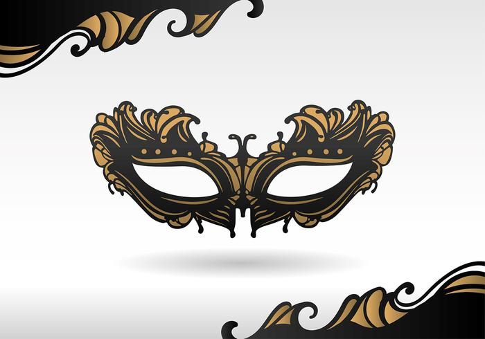 Masquerade maschera nera vettoriale