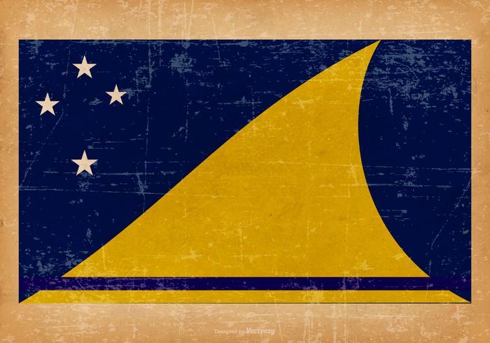Vecchia bandiera grunge di Tokelau vettore