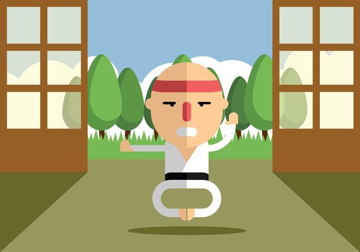 Karate di allenamento vettore