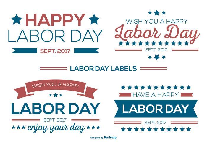 Collezione di etichette Labor Day vettore