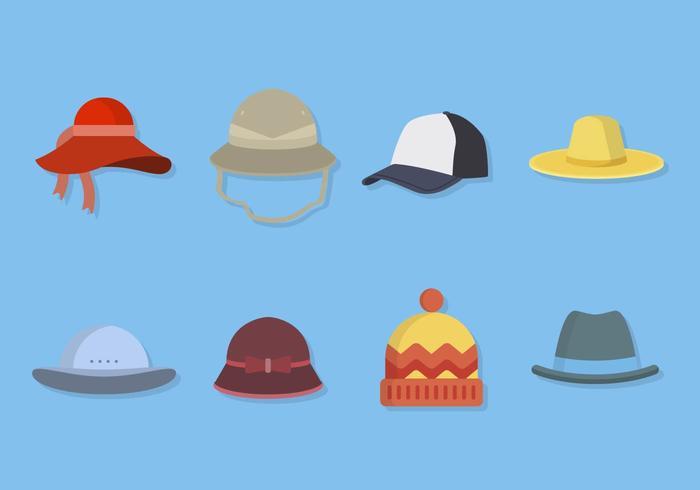Collezioni di cappello piatto vettore