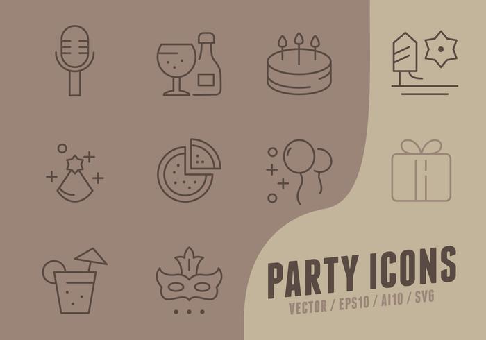 Icone della raccolta di buon compleanno vettore