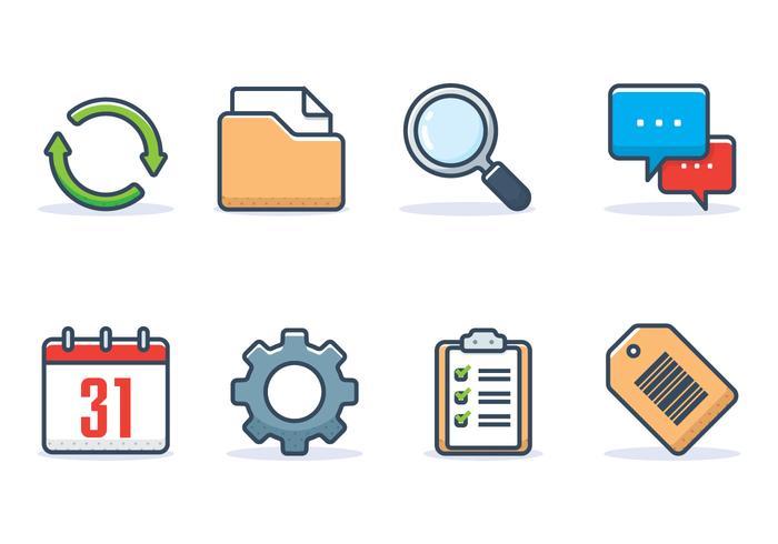 Set di icone di interfaccia vettore