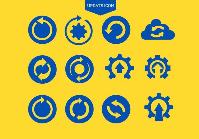 Set di aggiornamento icona Aggiorna o ripeti simbolo vettore