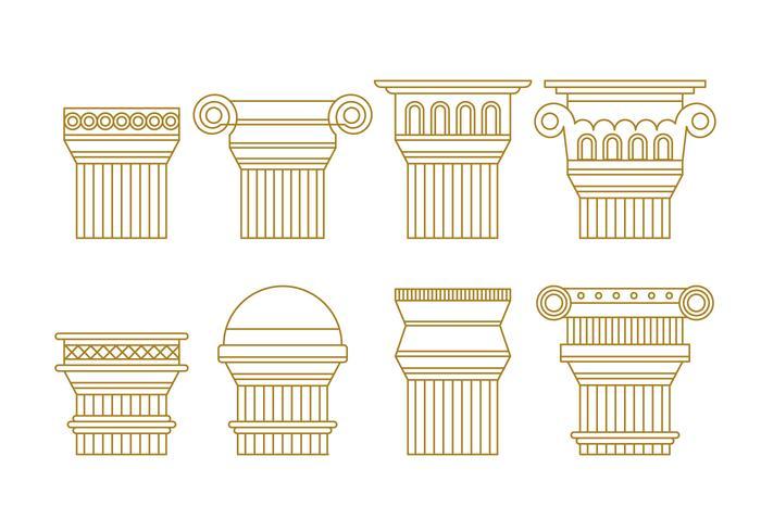 Pacchetto di vettore di colonne romane