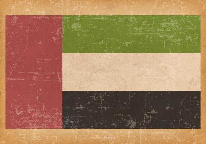 Vecchia bandiera di lerciume degli Emirati Arabi Uniti vettore