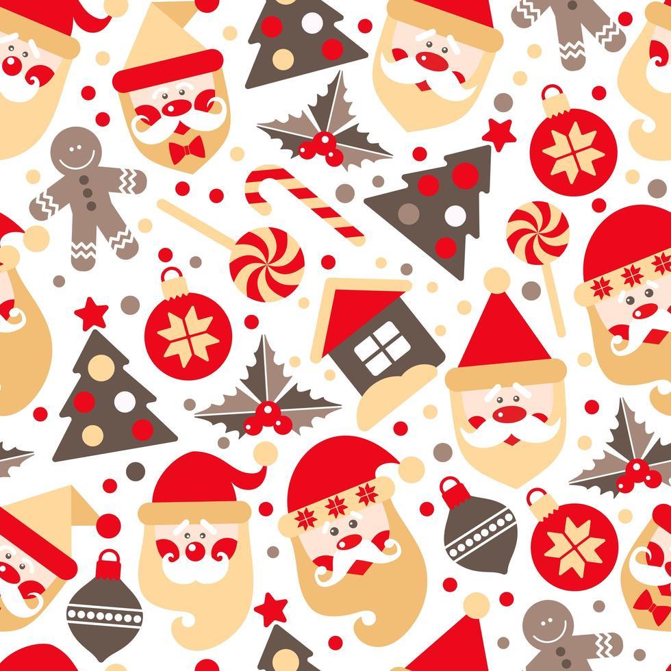 sfondo fatto di elementi di design di Natale vettore
