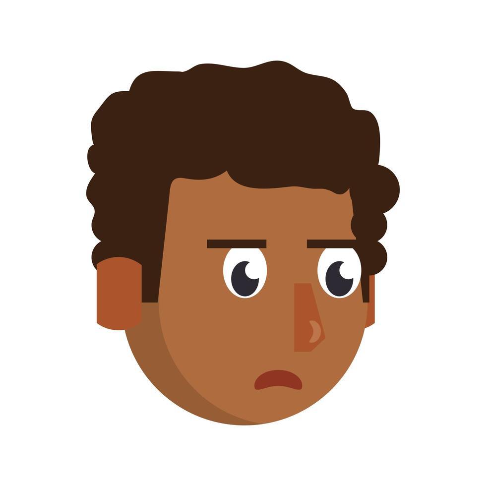 personaggio dei cartoni animati di testa dell'uomo vettore
