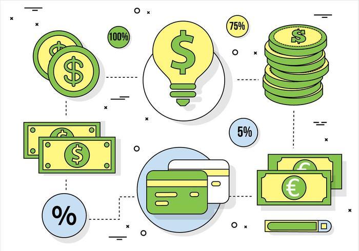 Elementi di business vettoriali gratis Design piatto
