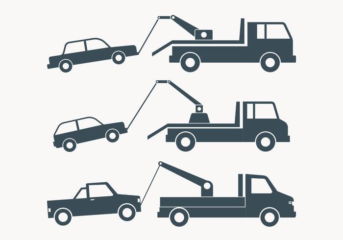 Illustrazione semplice del camion di rimorchio vettore