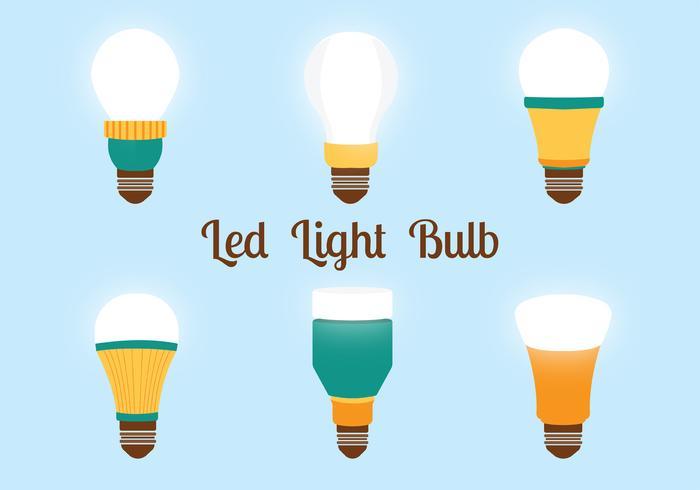 Pacchetto di luci a LED per lampadine vettore